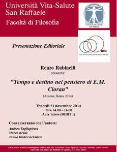 Incontro Rubinelli-Tempo e destino 21-11-14